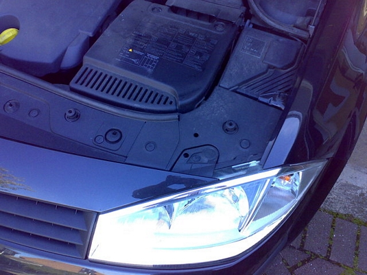 how to change the megane ii headlight bulb